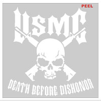 Decal, White Vinyl, Death Before Dishonor
