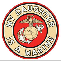 Decal, EGA My Daughter Is A Marine