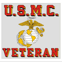 Decal, USMC Veteran