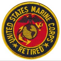 Patch, Marine Corps Retired
