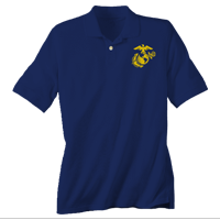 _Polo, Navy w/ Embroidered EGA