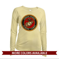 _Long Sleeve Solar Shirt (Ladies): Marine Corps Seal
