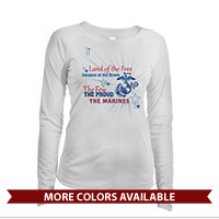 _Long Sleeve Solar Shirt (Ladies): Land of the Free