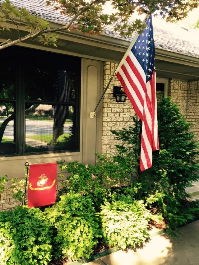 Garden Flag: Likeness of the Marine Corps Flag
