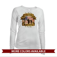 _Long Sleeve Solar Shirt (Ladies): Fallen Heroes, We Salute You