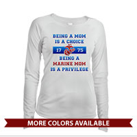 _Long Sleeve Solar Shirt (Ladies): Being a Marine Mom is a Privilege