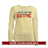 _Long Sleeve Solar Shirt (Ladies): Land of the Free, USMC