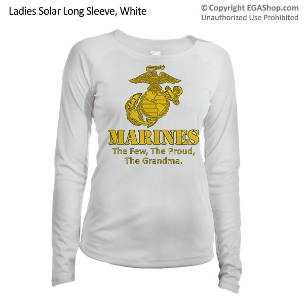 _Long Sleeve Shirt (Ladies, Solar): Yellow Marines Family