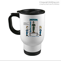 Travel Mug: SemperToons - Pain Chart