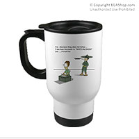 Travel Mug: SemperToons - PS Tell Dad
