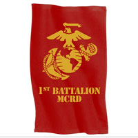 Rally Towel: 1st Recruit Btn (Red)