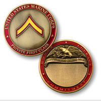Custom Engraved Rank Coin, E-2 (Private First Class)