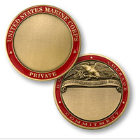 Custom Engraved Rank Coin, (Private)