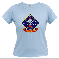 _T-Shirt (Ladies): 1st Recon Marines