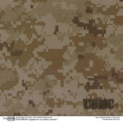 Paper Desert Camo Usmc 12x12