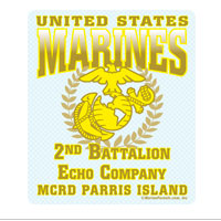 Sticker (Set of 4): 2nd Btn Parris Island (Choose E, F, G, H Company)
