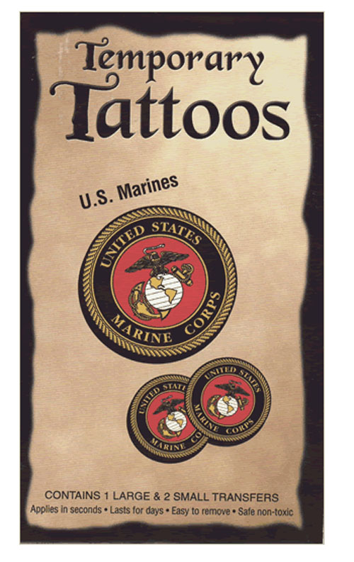 Our Temporary Tattoos consist of 1 large and 2 small USMC Seals.