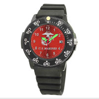 Watch (Men's), w/ Marines on Red Face